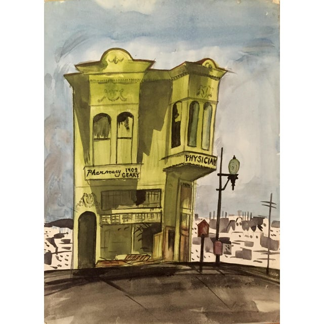 San Francisco Victorian House Watercolor Painting - Image 1 of 3