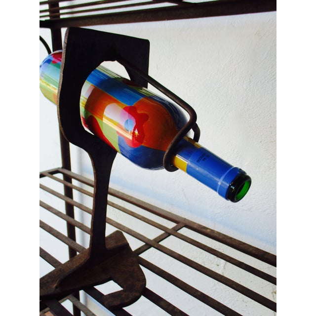 Image of Mid Century Modern Abstract Wine Holder Sculpture