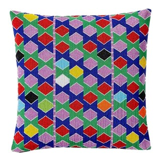 Beaded Multicolor Hexagon Pillow Cover