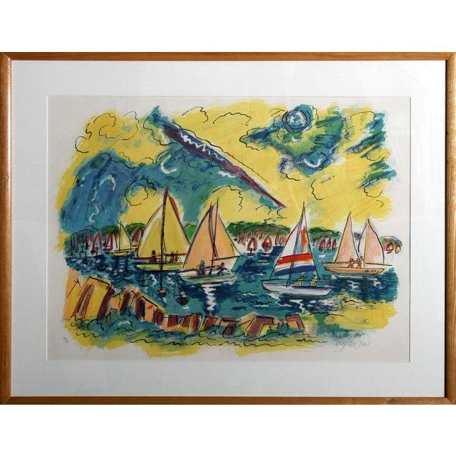 "Wayne Ensrud ""Afternoon Sails"" Lithograph - Image 3 of 3"