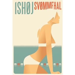 Contemporary Mads Berg Bikini Girl Pool Poster