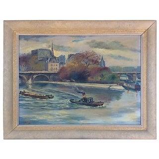 Le Vert Galant, Paris Painting