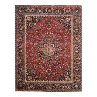Pasargad N Y Persian Mashad 9′7″ × 12′7″ Hand Knotted Rug