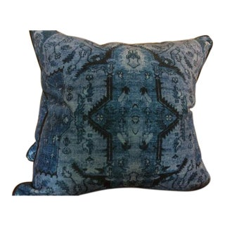 Ralph Lauren Pillows in Blue Anglesey Pattern - a Pair
