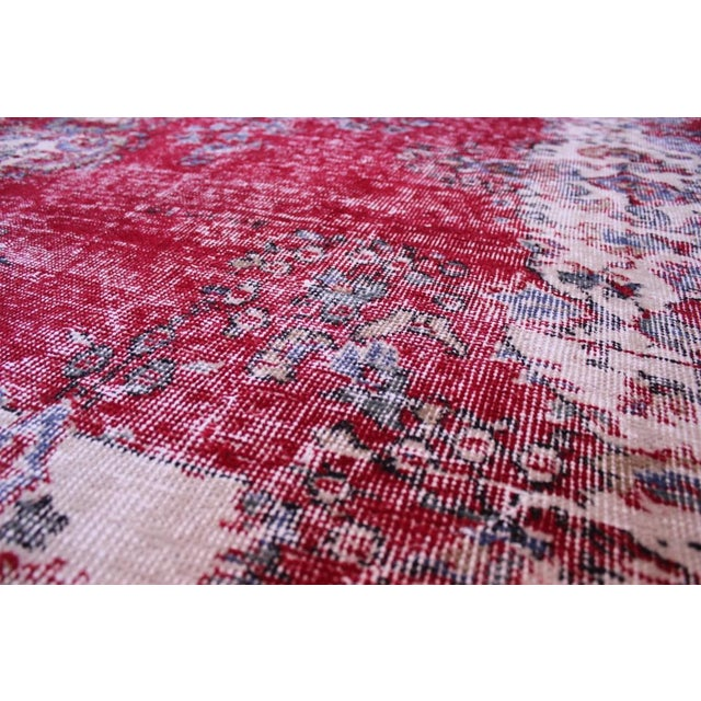 "Distressed Turkish Rug Decorative Rug, 6'1"" X 9'8"" - Image 5 of 8"