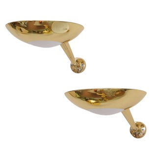 Stilnovo Gilt Bronze Sconces - A Pair