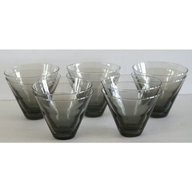 Image of Modern Smoke Gray Cocktail Glasses - Set of 10