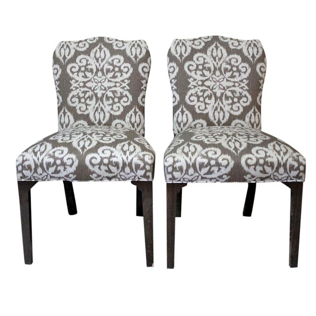 Image of Hickory Chair Cabriole Side Chairs - a Pair