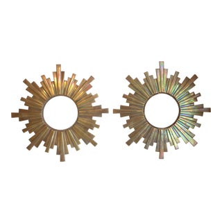 Art Deco Bronze Sunbursts - A Pair