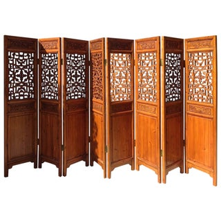 8-Panel Antique Chinese Room Divider