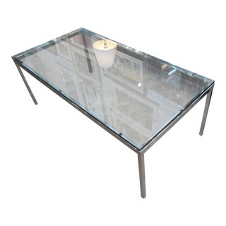 Knoll Glass Top & Chrome Frame Coffee Table