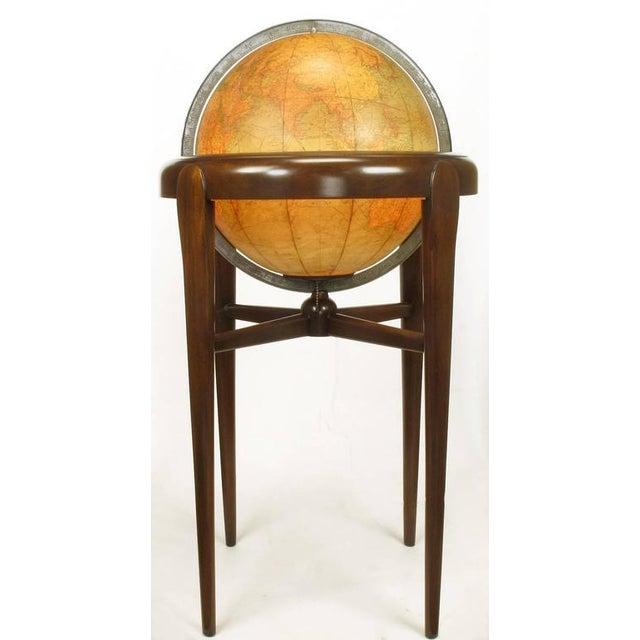 Replogle Illuminated Glass Globe on Mahogany Articulated Stand, circa 1940s - Image 3 of 10