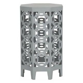 Octagonal Side Table in Grey