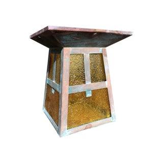 Antique 1920s Outdoor Copper Light Fixture
