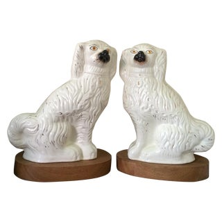 Large Staffordshire Dogs Figurines - Pair
