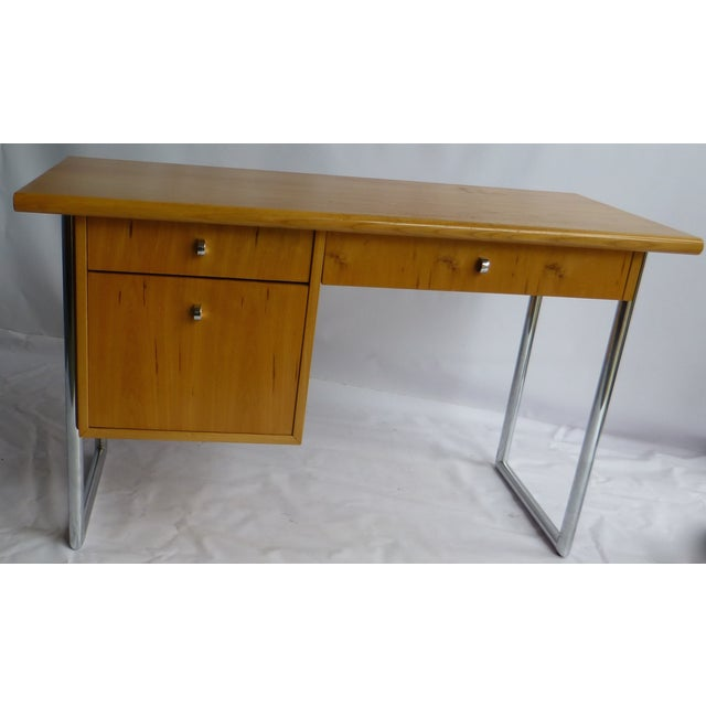Jack Cartwright Mid-Century Birch Founders Desk - Image 9 of 9