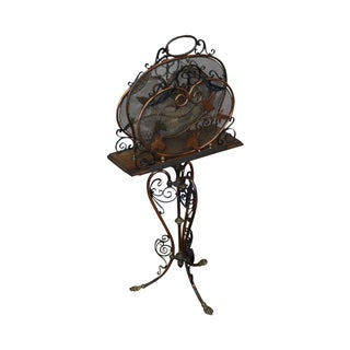 Antique Aesthetic Art Nouveau Magazine Stand
