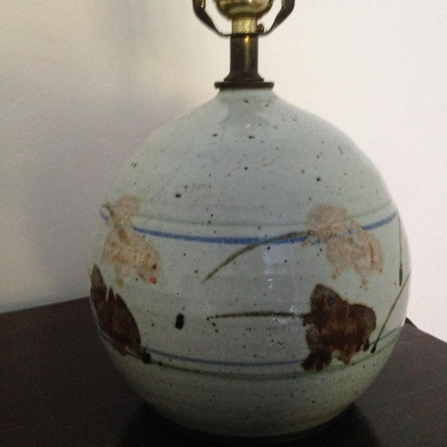 Mid-Century Modern Ceramic Lamp - Image 3 of 8