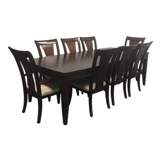 Expandable Dining Table & 8 Chairs From Macy's - Set of 9