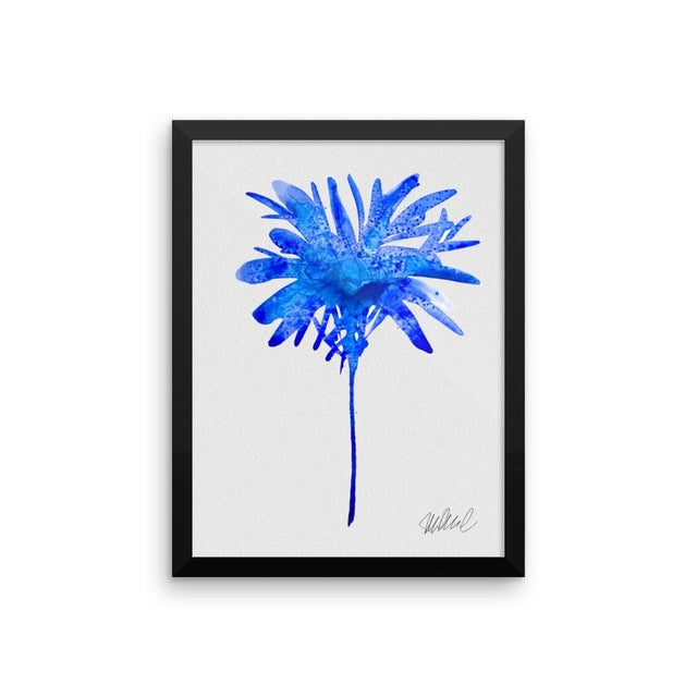Framed Blue Botanical Print - Image 2 of 3