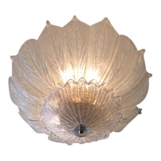 Murano Speckled Leaf Flush Mount