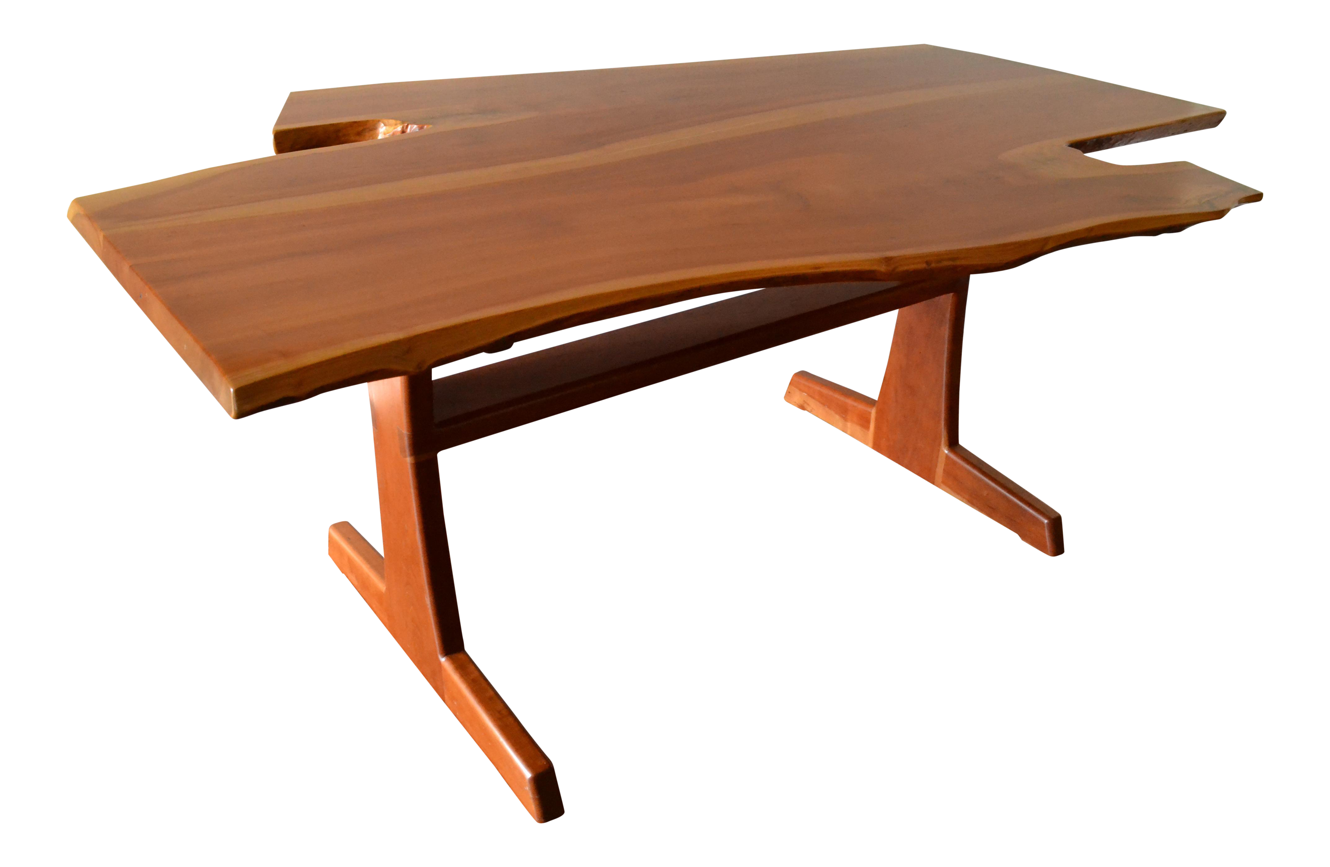 Custom Cherry Wood Sculptural Live Edge Dining Table