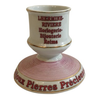 French Hand Painted Matchstick Holder & Striker