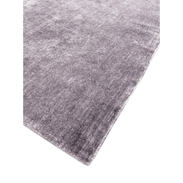 Overdyed Amethyst Wool Area Rug - 9′11″ × 13′2″ - Image 3 of 4