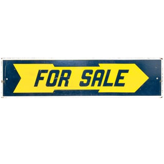 """Two-Sided Wood """"For Sale"""" Sign"""