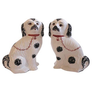 Vintage Staffordshire Style Dogs - A Pair