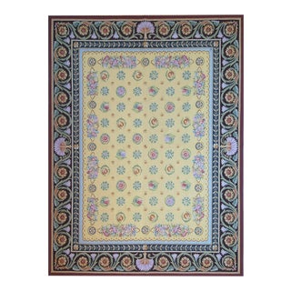 """Pasargad Aubusson Hand Woven Wool Rug- 10' 0"""" x 14' 0"""""""