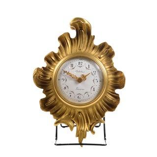 Antique Gubelin Lucerne Gilt Bronze Clock