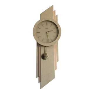 Vintage Modernist Wall Clock