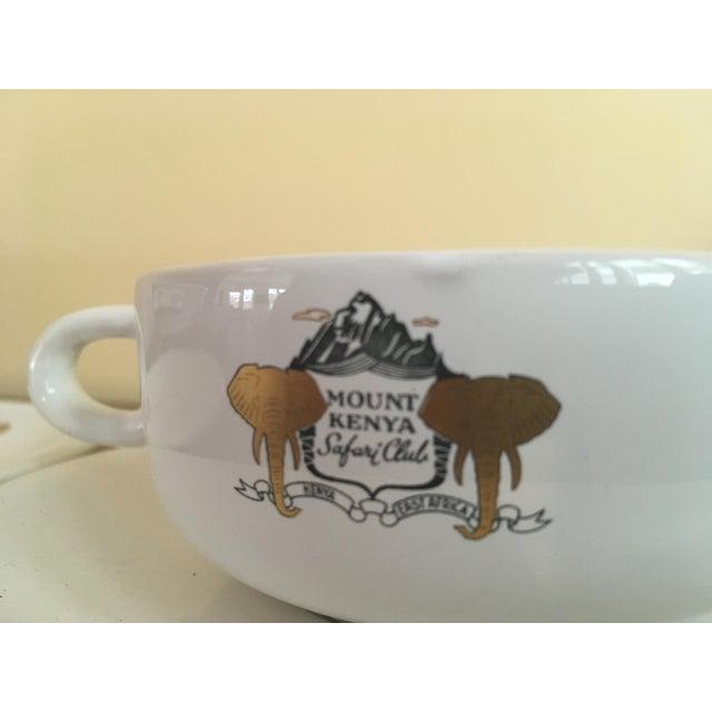 Mount Kenya Safari Club Soup Bowls With Saucers - A Pair - Image 3 of 5