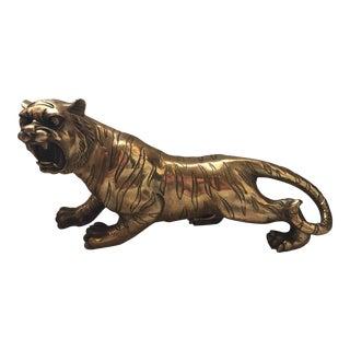 Brass Tiger Statue
