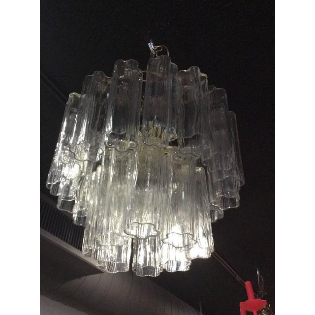 Vintage Murano Glass Chandelier Tronchi - Image 8 of 11