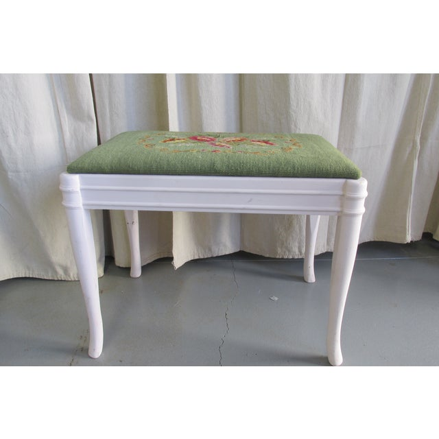 Green & Pink Tapestry Bench - Image 3 of 5