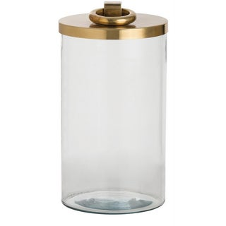 Brass & Glass Canister