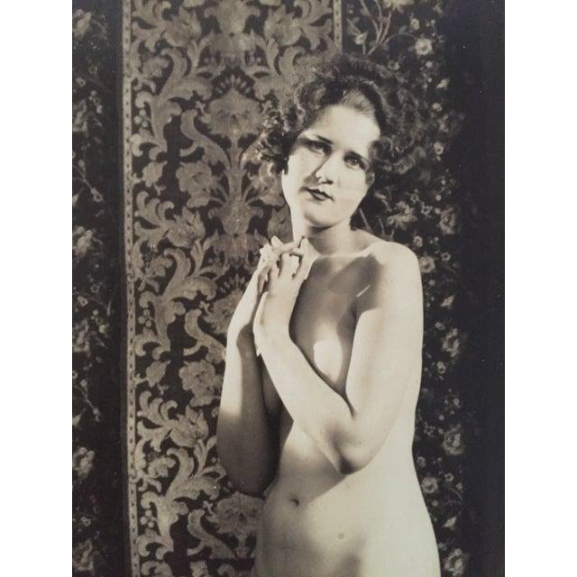 Vintage Art Deco Photo Nude Woman C. 1920 - Image 3 of 4
