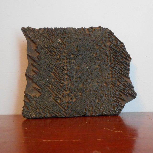 Antique Wood Print Block I - Image 4 of 5