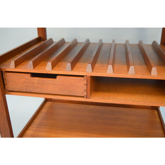 Mid-Century Teak Bar Cart With Reversible Serving Tray - Image 8 of 10