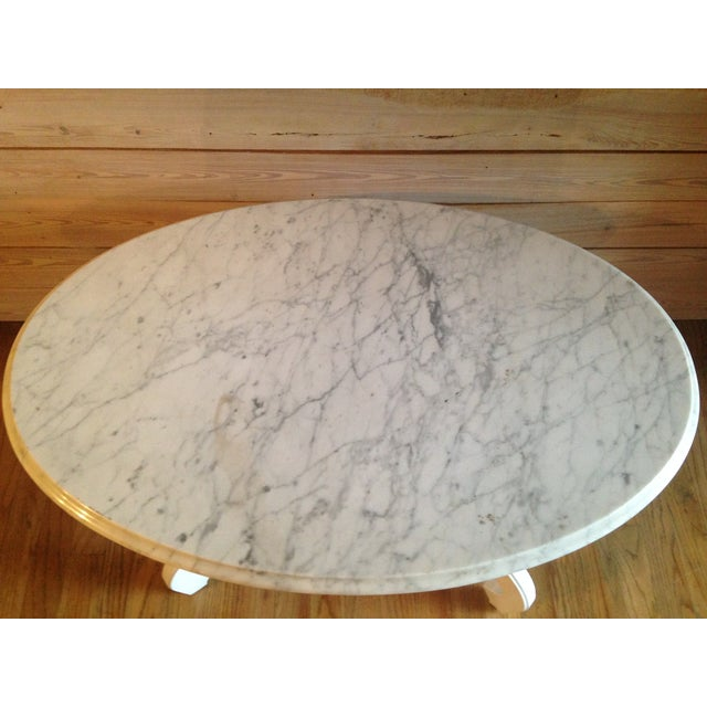 Victorian Style Marble Coffee Table: Victorian Marble Top Coffee Table