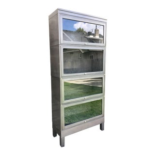 Vintage Steel and Glass Stackable Barristers Cabinets