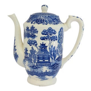 Blue Willow Coffee Pot