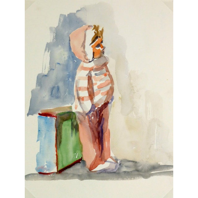 Vintage French Doll Watercolor Painting - Image 1 of 3