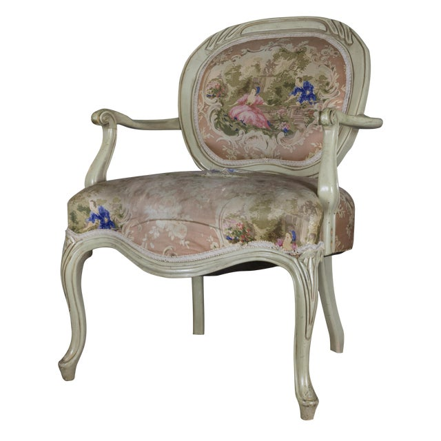 Vintage Louis XV Style Armchair - Image 1 of 7