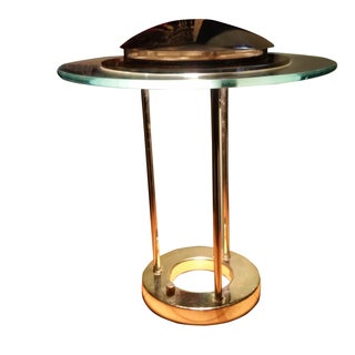 Brass and Glass Domed Table Table Lamp
