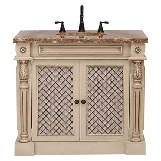 Classico Beige Bath Vanity with Cabinet