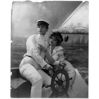 Early 20th-C. Ladies on Boat Photography