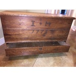 Image of Antique 1776 English Primitive Blanket Box/Chest